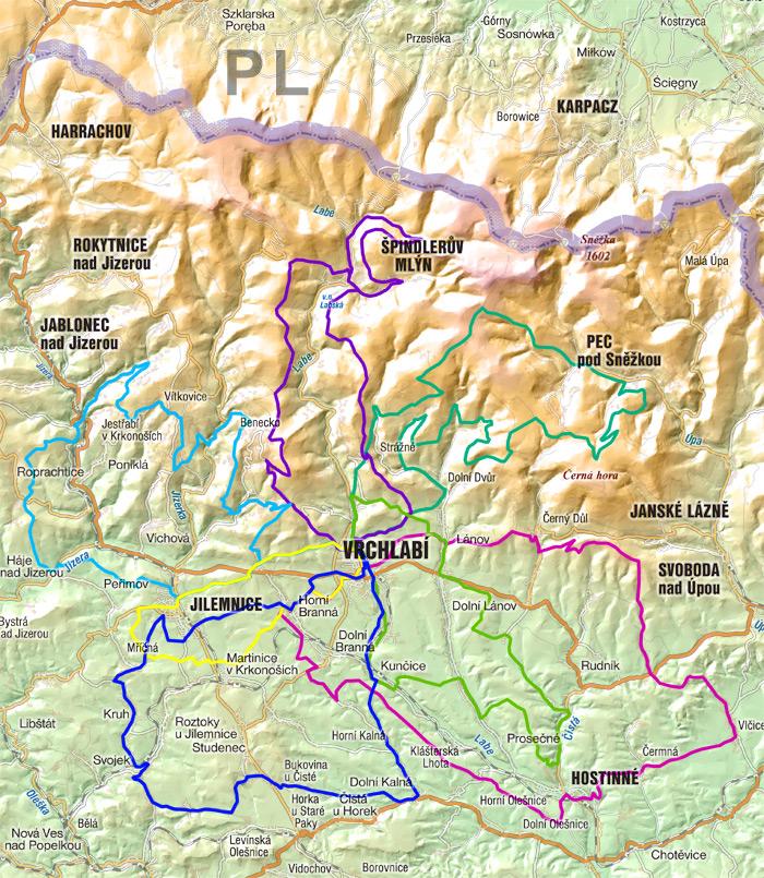 Cyklotrasy Severni Cechy Krkonose Jizerske Hory Cyklostezky
